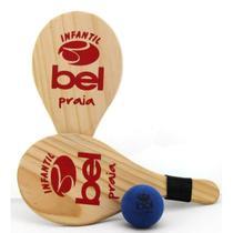 Kit Frescobol Infantil com 2 Raquetes + Bolinha + Bolsa Transporte  Bel -