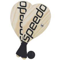 Kit Frescobol Speedo C/ 2 Raquetes e 1 Bolinha -