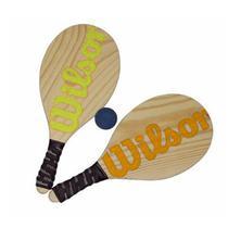 Kit Frescobol Wilson 2 Raquetes + 1 Bola Original -