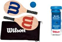Kit Frescobol Wilson - 2 Raquetes & Bolinha + Tubo 3 Bolas -