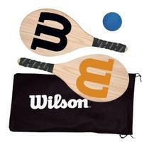Kit Frescobol Wilson C/ 2 Raquetes, Bolinha E Capa -