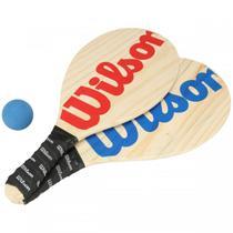 Kit Frescobol Wilson Cabo Emborrachado - 2 Raquetes + Bola -