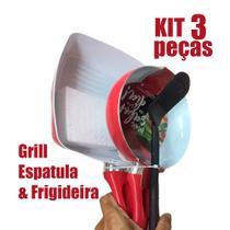 Kit Frigideira Grill + Espátula Revestimento Cerâmica - Fratelli