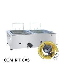 KIT - Fritador Gás 2 cubas 1/2 SFG212 + Kit Gás - Venâncio - Venancio