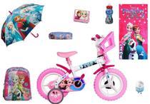 Kit Frozen Bicicleta + Mochila + 6 itens - Exp