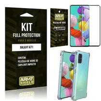 Kit Full Protection Galaxy A71 Película de Vidro 3D + Capa Anti Impacto - Armyshield -