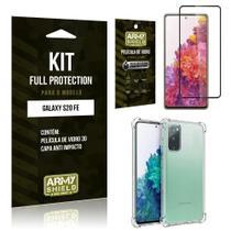 Kit Full Protection Galaxy S20 FE Película de Vidro 3D + Capa Anti Impacto - Armyshield -