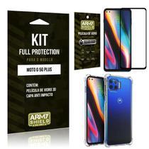 Kit Full Protection Moto G 5G Plus Película de Vidro 3D + Capa Anti Impacto - Armyshield -