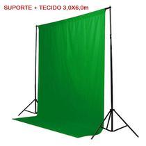 Kit Fundo Infinito Movel 2,50m com Fundo Muslin Verde 3,0x6,0m - Leadwin