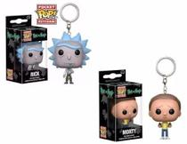 Kit Funko Pop - 2 Chaveiros Rick E Morty - Pocket Pop! Funko -