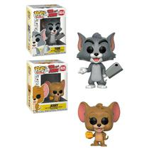 Kit Funko Pop Tom e Jerry Com Boneco Tom 404 + Boneco Jerry 405