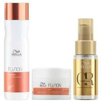 Kit Fusion Shampoo, Máscara e Oil Reflections - Wella - Wella Professionals