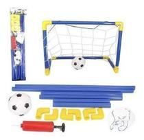 Kit Futebol Gol Golzinho Trave Rede Bola E Bomba Grande Ref: 5841 - Wellmix