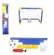 Kit Futebol Infantil Trave com Rede + Bola e Bomba - Wellmix
