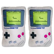 Kit Game Pillow Boy: 2 Almofadas Gamer Videogame Nintendo Game Boy 3D - Camaleão preto