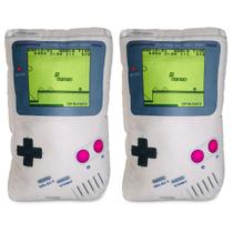 Kit Game Pillow Toy: 2 Almofadas Gamer Videogame Game Boy Geek Nerd - Camaleão preto