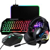 Kit Gamer Completo Headset + Teclado + Mouse + M Pad para PC - Thmm2-1