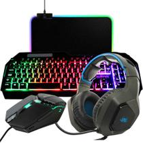 Kit Gamer Completo Headset + Teclado + Mouse + M Pad para PC - Thmm2