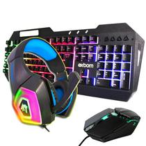 Kit Gamer Completo Headset + Teclado + Mouse para PC - Bsparts