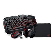 Kit Gamer Dazz Arsenal Teclado USB + Mouse 4000 DPI + Headset USB + Mouse Pad 36 x 28cm -