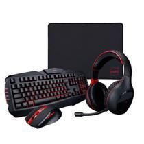 Kit Gamer Dazz Combo 4 em 1 Arsenal Teclado + Mouse + Mousepad + Headset -