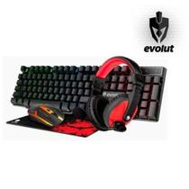 Kit Gamer Eg51 Mouse + MousePad + Headset + Teclado 4X1 - Evolut -