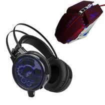 Kit Gamer Fone De Ouvido Headset Knup-402 E Mouse X-Soldado Infokit -