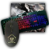 Kit Gamer Gaming Master Teclado Semi Mecânico + Mouse + Mousepad RGB - Kmex Fortrek
