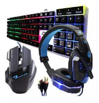 Kit Gamer Haiz Teclado Mouse E Fone Headset 5.1 Led Hz18