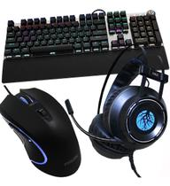 Kit Gamer Hz39 Teclado Mouse E Headset Gamer Luz Led - Haiz