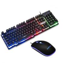 Kit Gamer Mouse e Teclado Com Led Rgb - Exbom