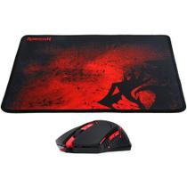 Kit Gamer Mouse M601 Ba Centrophorus REDRAGON + Mousepad Red -