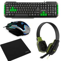 Kit Gamer Multilaser Teclado TC201 + Mouse MG-11BSI + Headphone PH146 + Mouse Pad