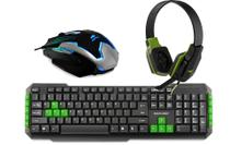 Kit Gamer Multilaser Teclado TC201 + Mouse MG-11BSI + Headphone PH146