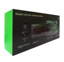 Kit Gamer Razer Holiday Teclado + Mouse + Headset + Mouse PAD  Gaming Bundle RZ85-01470200-B3U1