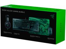 Kit Gamer Razer Teclado e Mouse - com Headset e Mouse Pad Holiday