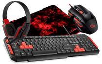 Kit Gamer Red Teclado TC160 + Mouse MO236 + HeadPhone PH073 + MousePad - Multilaser