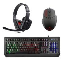 Kit Gamer Teclado Anti-Ghosting + Mouse 2400dpi + Headset - C3tech