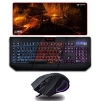 Kit Gamer Teclado C3tech Kg-110bk + Mousepad Gamer DoomFire