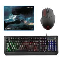 Kit Gamer Teclado C3tech Kg-50bk + Mousepad Doom Frost