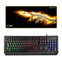 Kit Gamer Teclado C3tech Kg-50bk + Mousepad KillerFire