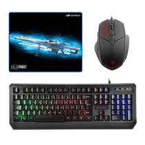 Kit Gamer Teclado C3tech Kg-50bk + Mousepad KillerFrost
