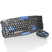 Kit Gamer Teclado e Mouse Sem Fio Wireless - HK-8100 - B Max