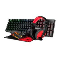 Kit Gamer Teclado Mouse Headset Mousepad Evolut EG51 -