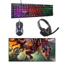 Kit Gamer Teclado + Mouse + Mousepad Asa Do Dragão + Headset - Galviani