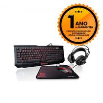 Kit Gamer Teclado   Mouse   Mousepad   Headset Thermaltake TT ESPORTS GAMING KIT KBGCKPLBLP01