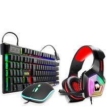 Kit Gamer Teclado Mouse Semi Mecânico +fone Headphone Hypex - EXBOM