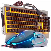 Kit Gamer Teclado + Mouse Semi Mecanico Iluminado Led Usb - Infokit