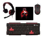 KIT Gamer Teclado multimídia + Fone Headset Stereo P2 + Mouse led 6 Botões 3.200 DPI  + Mouse Pad - G-FIRE / T Dagger