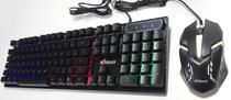 Kit Gamer Teclado Semi Mecânico E Mouse Led Abnt2 Pc Usb Luz - Xtrad